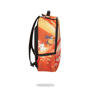 Sprayground Pokemon Fire Shark Backpack Orange Side