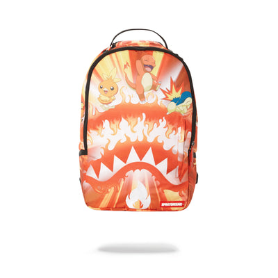 Sprayground Pokemon Fire Shark Backpack Orange