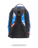 Sprayground Defend Sharks Backpack Blue Back