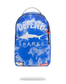 Sprayground Defend Sharks Backpack Blue Front