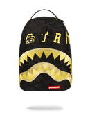 Sprayground Destroy Shark Gold Camo