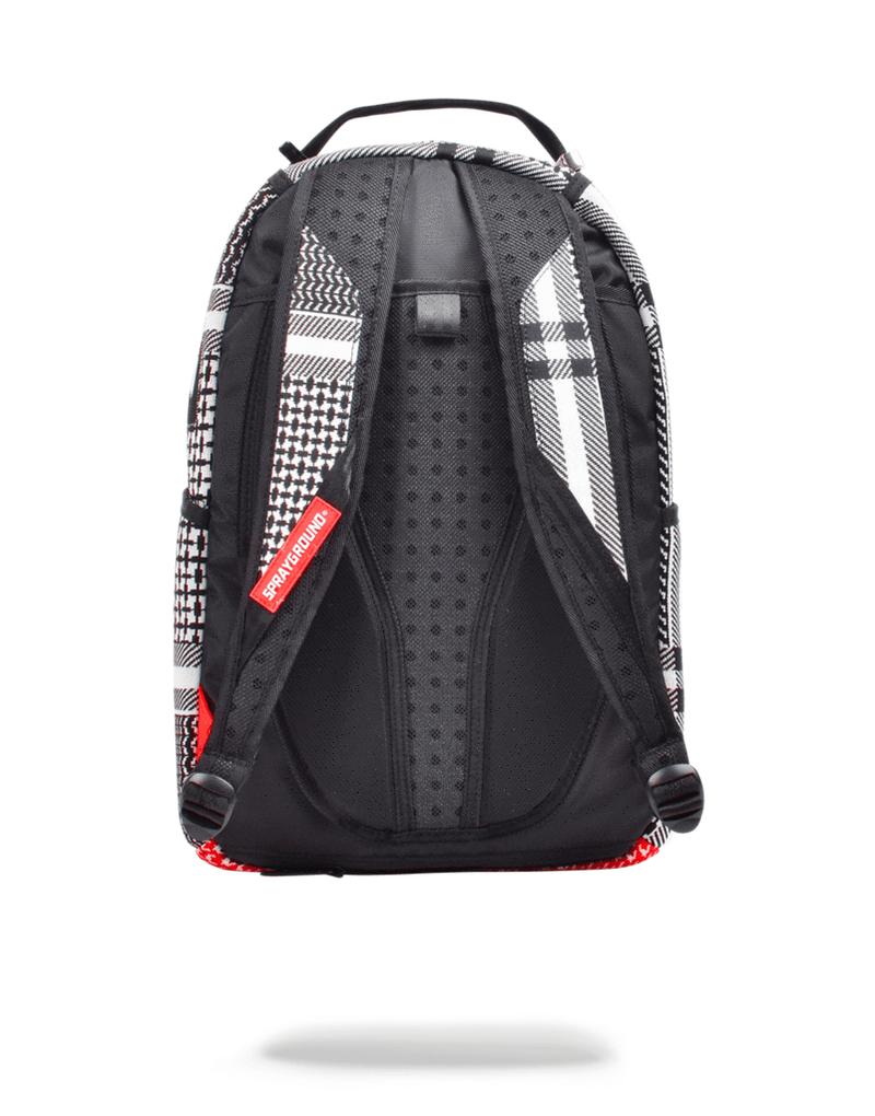 Sprayground Emirate Knit Shark Backpack Black Back
