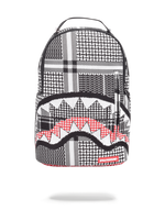 Sprayground Emirate Knit Shark Backpack Black Front