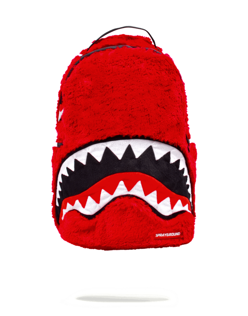 Sprayground Fur Monster Backpack Red Front