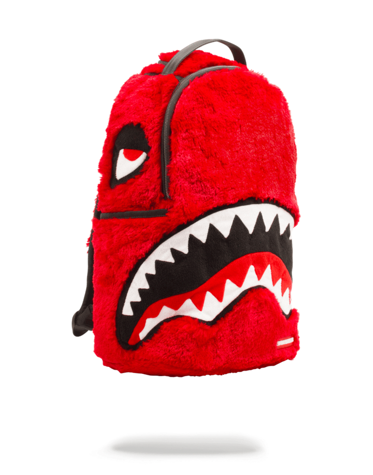 Sprayground Fur Monster Backpack Red