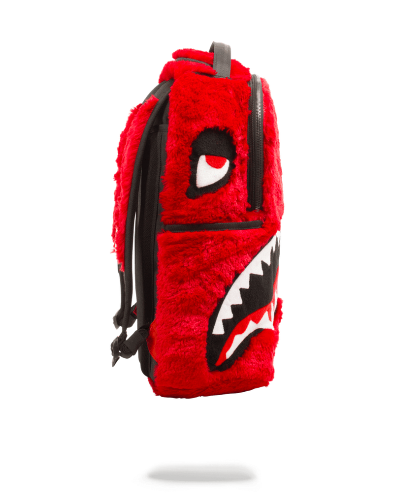 Sprayground Fur Monster Backpack Red Side