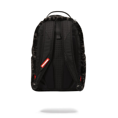 Sprayground Fur Rubber Shark Backpack Black Back