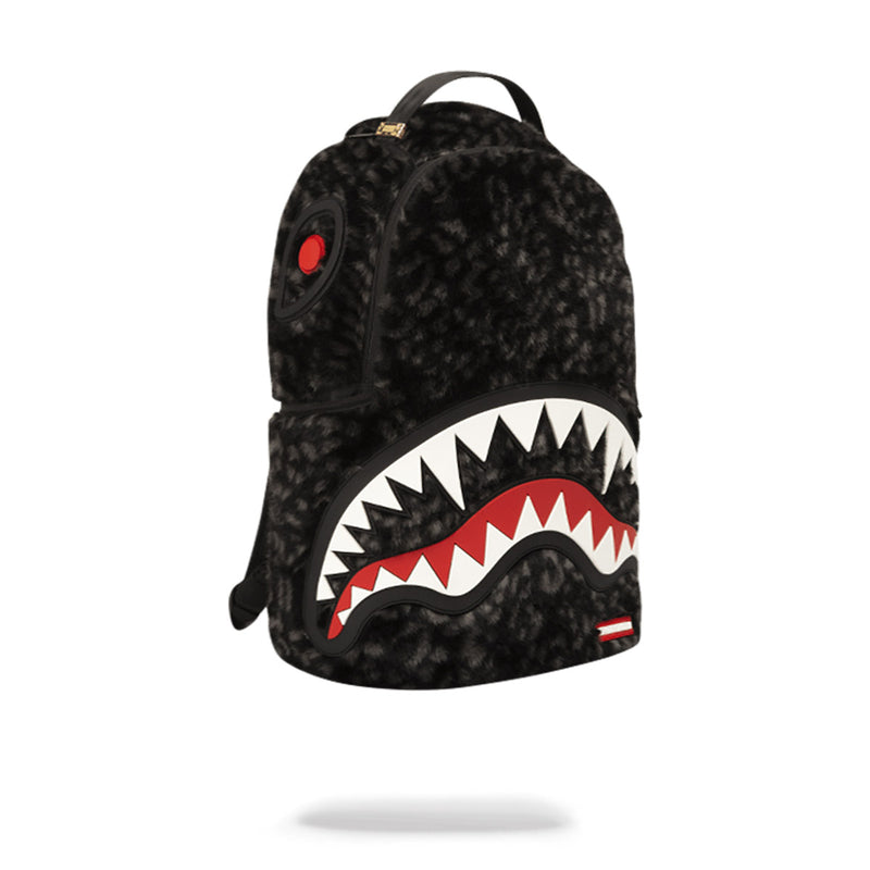 Sprayground Fur Rubber Shark Backpack Black