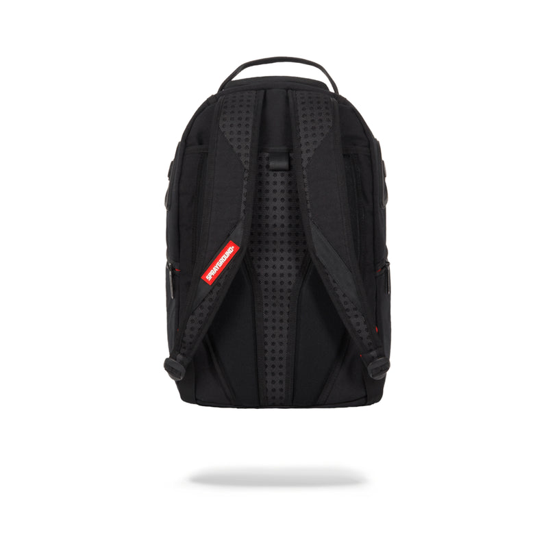 Sprayground Ghost Rubber Shark Backpack Black Back