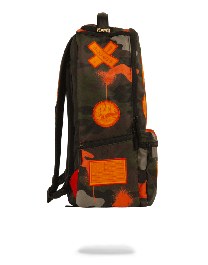 Sprayground Jacquees Army Cargo Backpack Camo Side