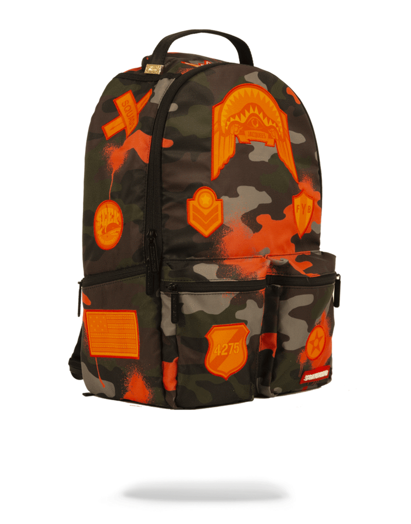 Sprayground Jacquees Army Cargo Backpack Camo