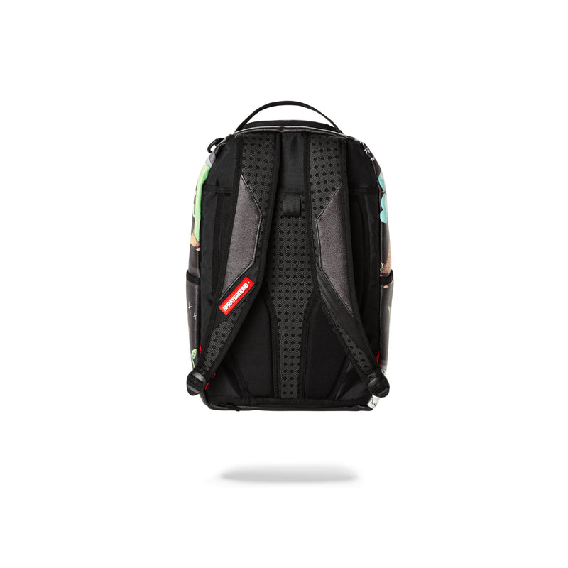 Sprayground Juice In Paradise Shark Backpack Black Back