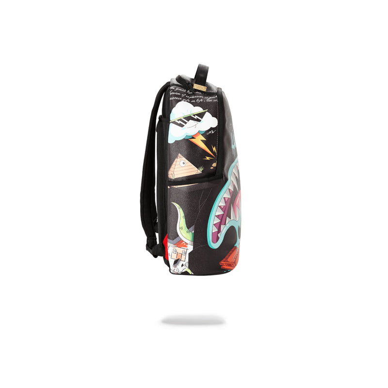 Sprayground Juice In Paradise Shark Backpack Black Side
