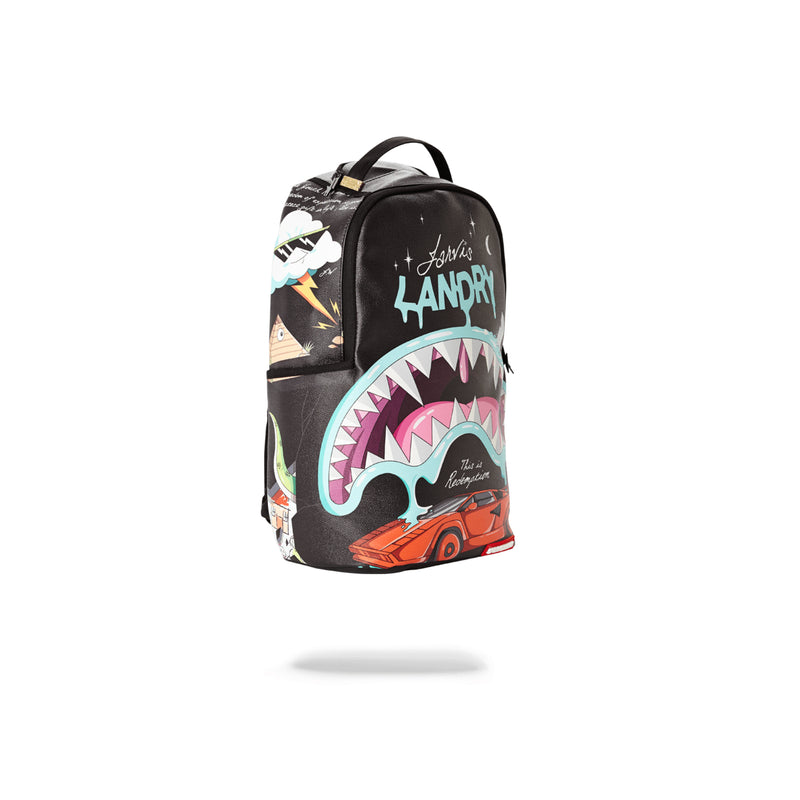 Sprayground Juice In Paradise Shark Backpack Black Turned