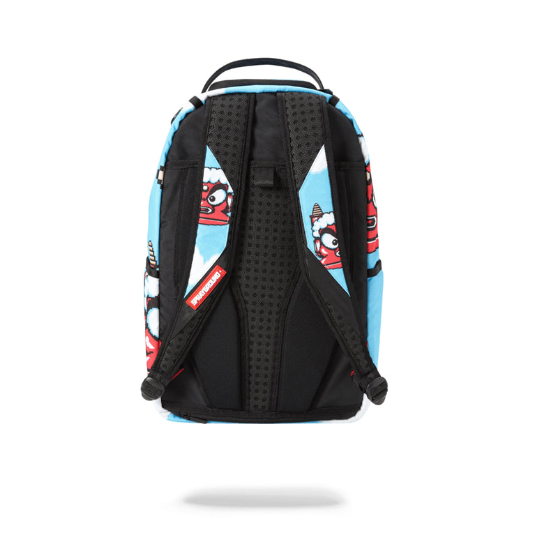 Sprayground Mega Man Destroyer Shark Backpack Blue Back