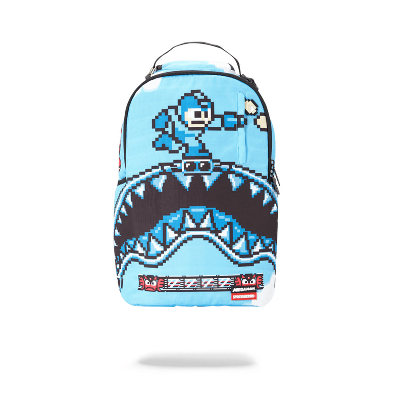 Sprayground Mega Man Destroyer Shark Backpack Blue