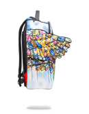 Sprayground Monopoly Money Wings Backpack Side