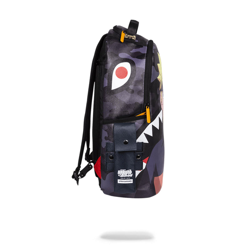 Sprayground Naruto Split Shark Backpack Black Side