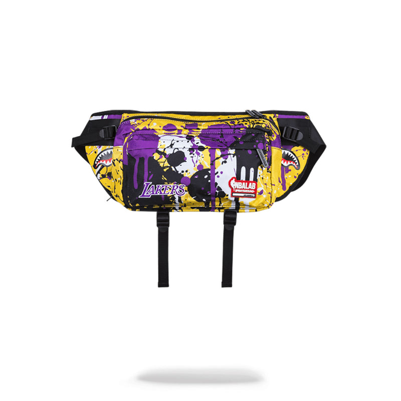 Sprayground NBALab Lakers Drip Crossbody Yellow