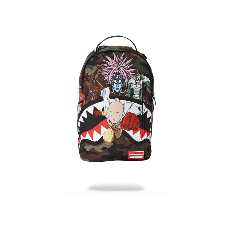 Sprayground One Punch Man Backpack Woodland Camo Front