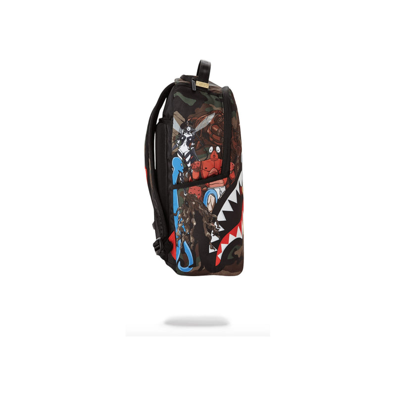 Sprayground One Punch Man Backpack Woodland Camo Side