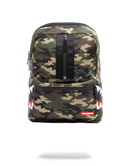 Sprayground One Strap Side Shark Bag Woodland Camo Front