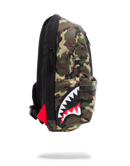 Sprayground One Strap Side Shark Bag Woodland Camo Side