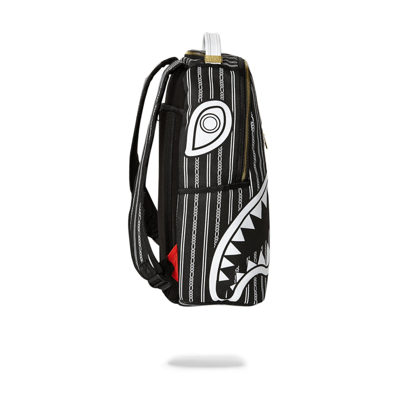 Sprayground Reverse Sharks In Paris Backpack Black Side