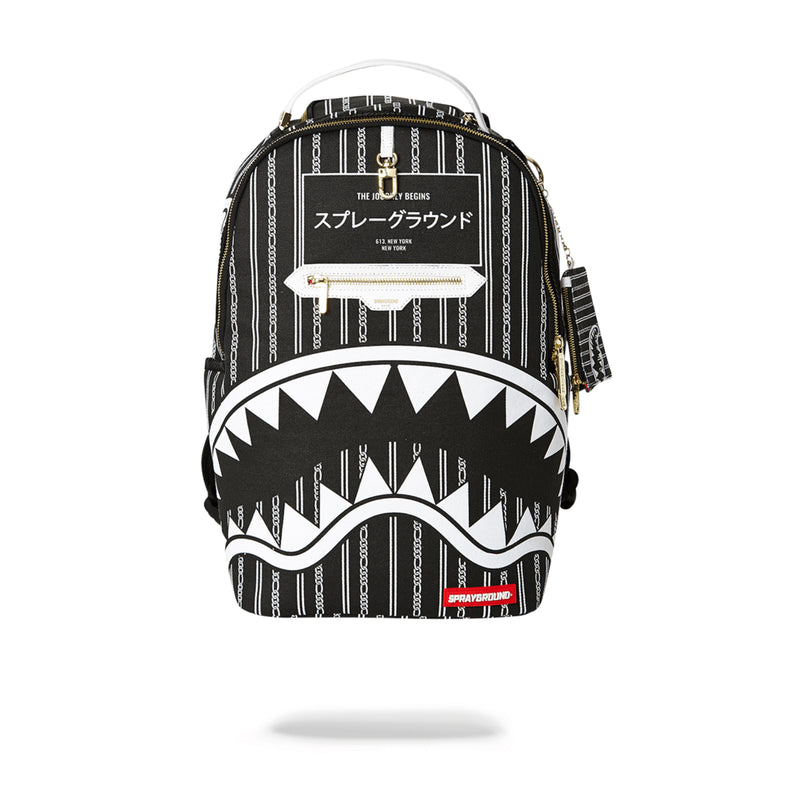 Sprayground Reverse Sharks In Paris Backpack Black