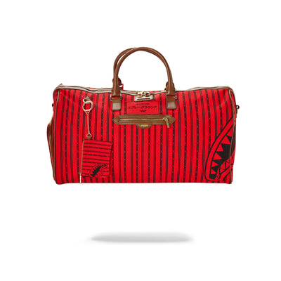 Sprayground Reverse Sharks In Paris Duffle Bag Red