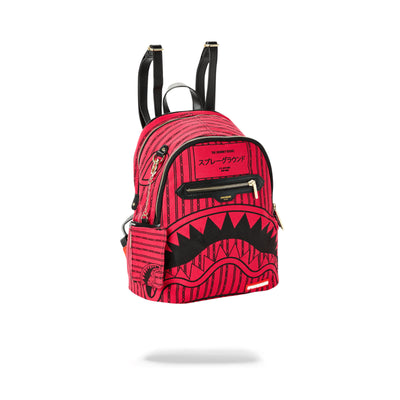 Sprayground Pink Reverse Sharks In Paris Savage Backpack Angled