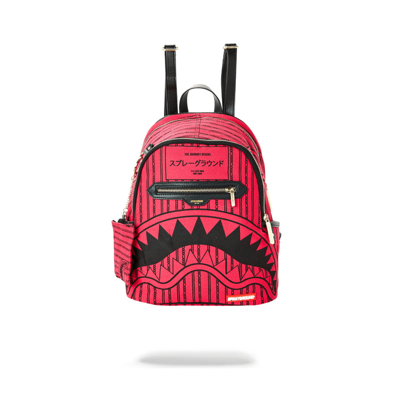 Sprayground Pink Reverse Sharks In Paris Savage Backpack Pink