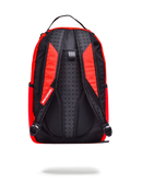 Sprayground Rubber Logo Backpack Red Back