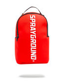 Sprayground Rubber Logo Backpack Red Front