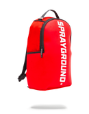 Sprayground Rubber Logo Backpack Red