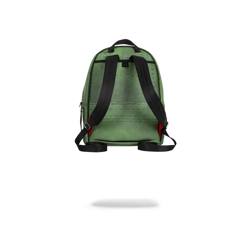 Sprayground Shark Infested Skies Olive Back