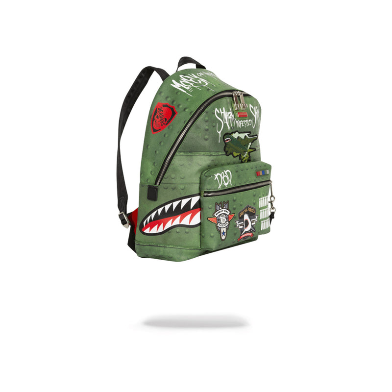 Sprayground Shark Infested Skies Olive