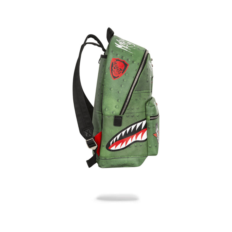Sprayground Shark Infested Skies Olive Side