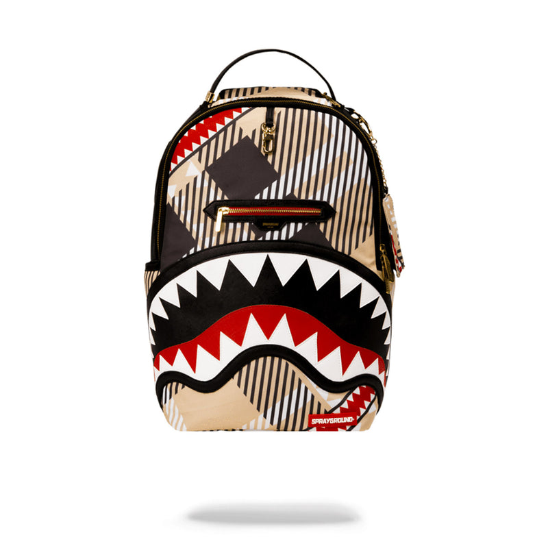 Sprayground Sharks In London Backpack Black Front