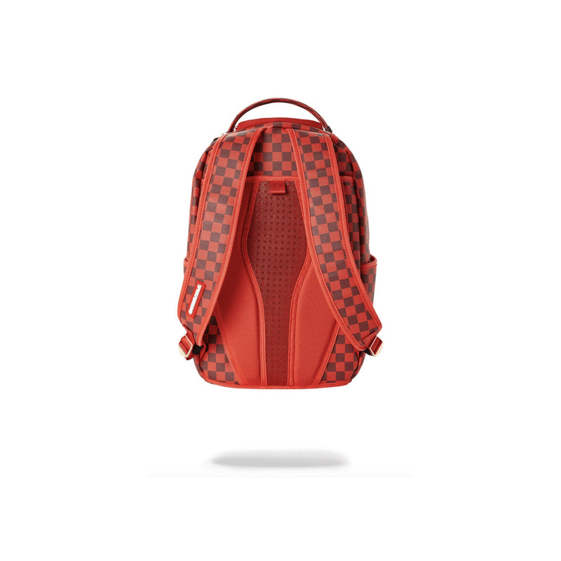 Sprayground Sharks In Paris Backpack Checkered Red Back