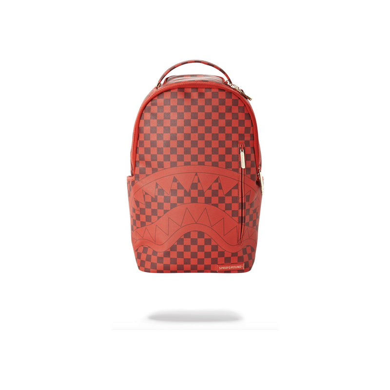 Sprayground Sharks In Paris Backpack Checkered Red Front