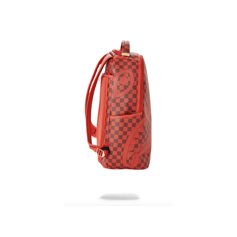 Sprayground Sharks In Paris Backpack Checkered Red Side