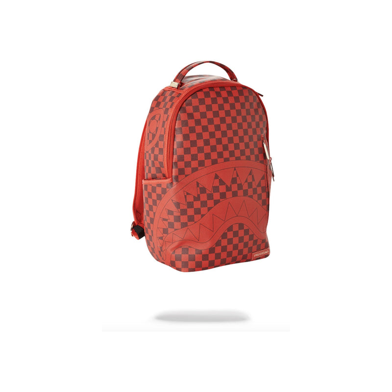 Sprayground Sharks In Paris Backpack Checkered Red