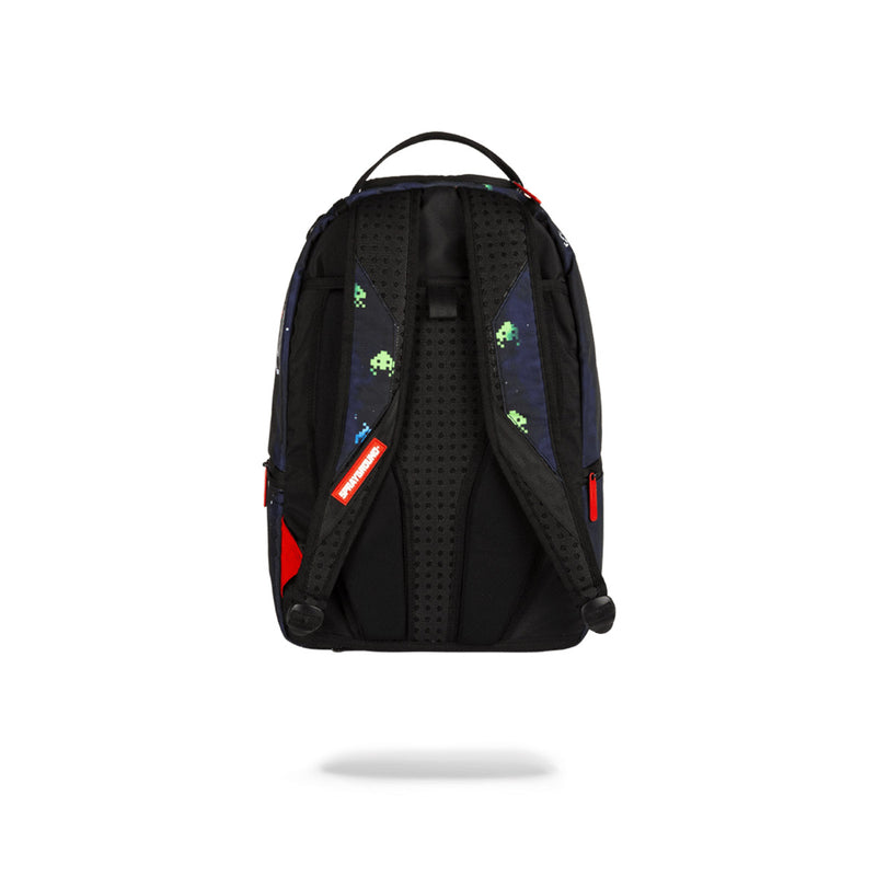 Sprayground Space Invaders Shark Backpack Black Back