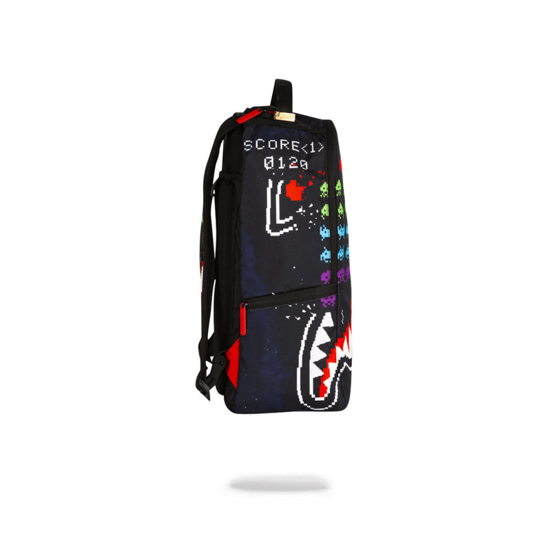 Sprayground Space Invaders Shark Backpack Black Side