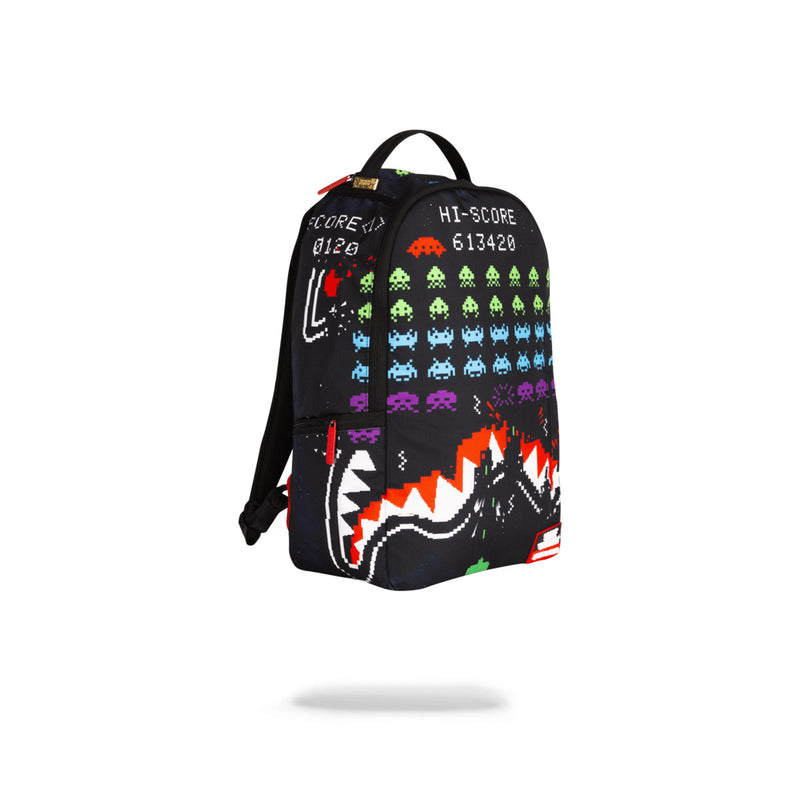 Sprayground Space Invaders Shark Backpack Black