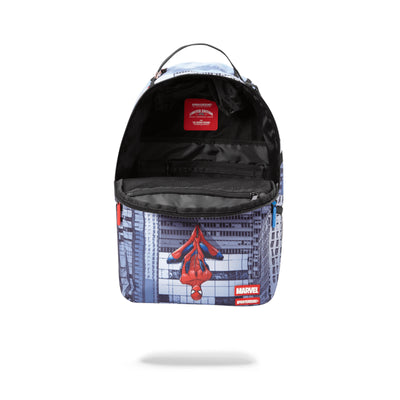 Sprayground Spiderman Upside Down Shark Backpack Assorted Opened