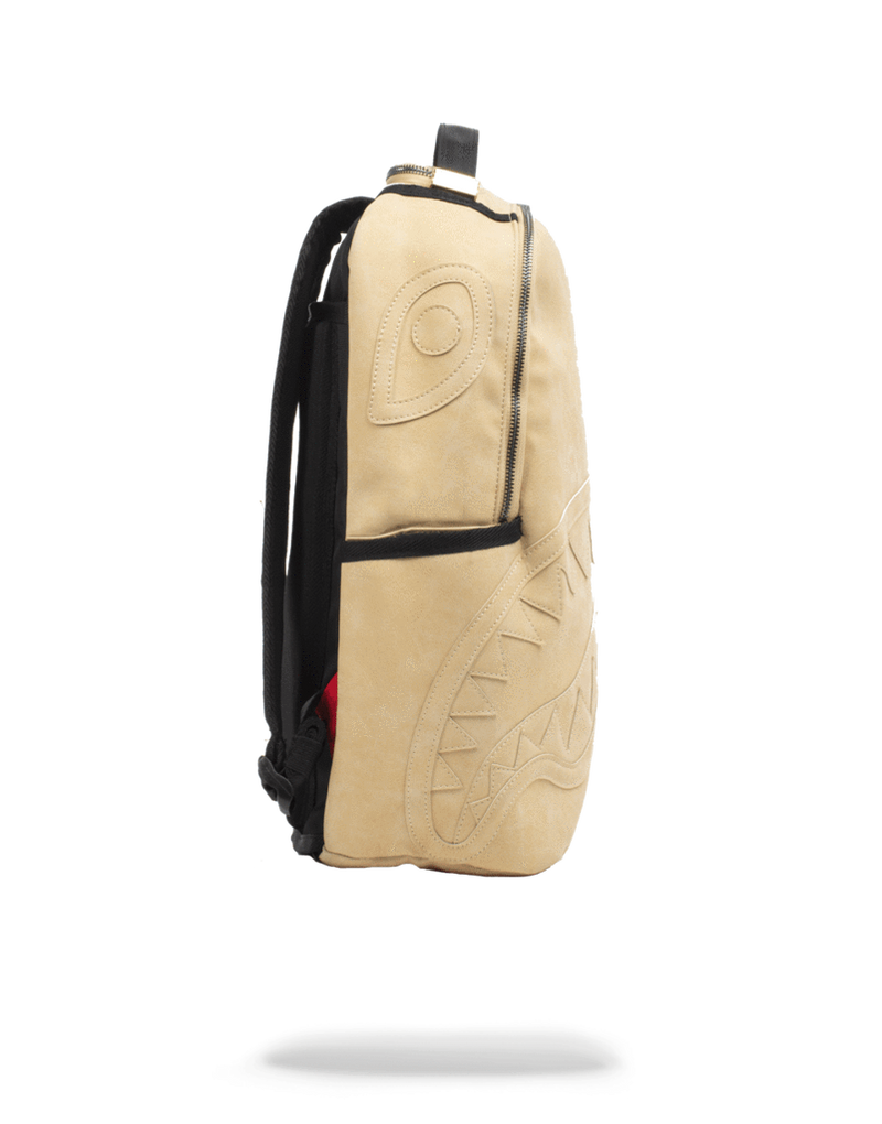 Sprayground Timber Shark Backpack Wheat Side