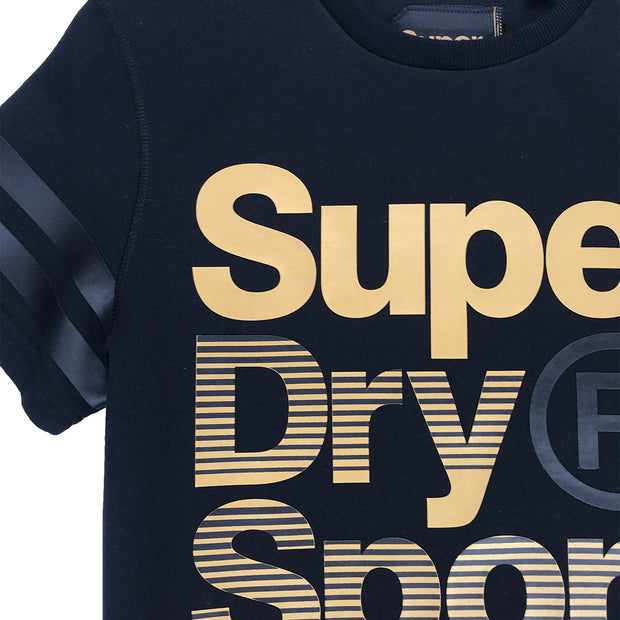 Superdry Gymtech Gold Medal Tee Neckline