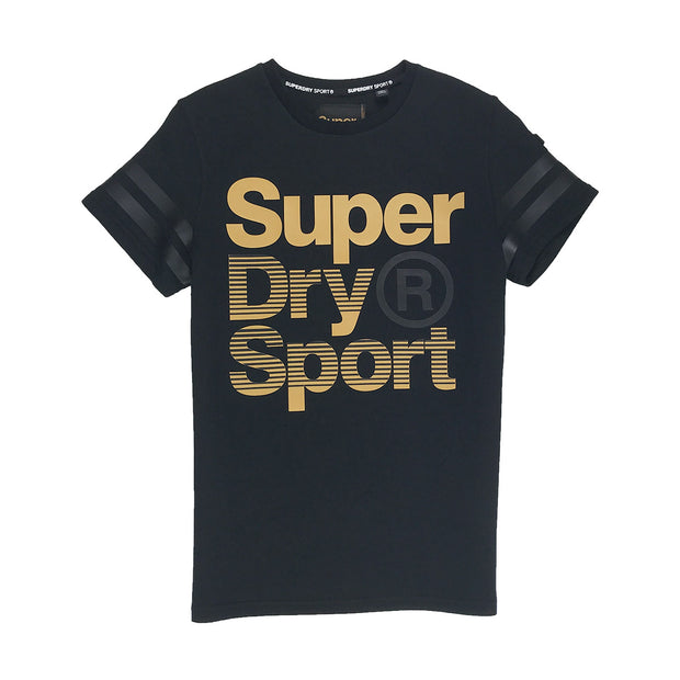 Superdry Gymtech Gold Medal Tee Black